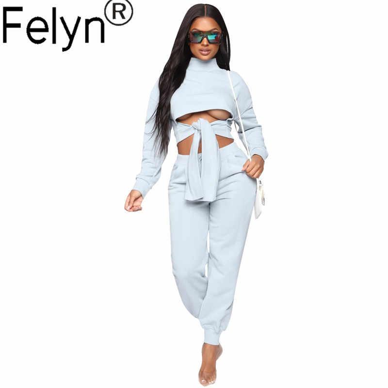 Felyn 2020 وصول جديد غير رسمي 2 قطعة رياضية حللا الجوف خارج المواد الناعمة ملابس الشارع السروال القصير