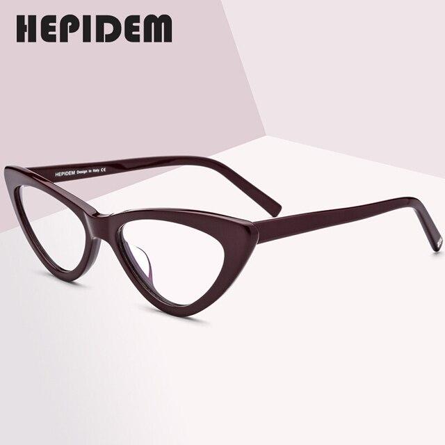 Acetat Optische Gläser Rahmen Frauen Marke Designer Cat Eye Brillen Neue Fors Damen Cateye Spektakel Brillen
