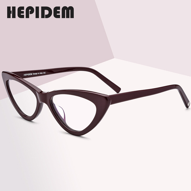 Acetate Optical Glasses Frame Women Brand Designer Cat Eye Prescription Eyeglasses New Fors Ladies Cateye Spectacle Eyewear