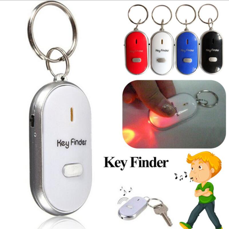 Led inteligente localizador chave alarme de controle de som anti perdido tag criança saco de segurança pet localizador encontrar chaves chaveiro rastreador cor aleatória