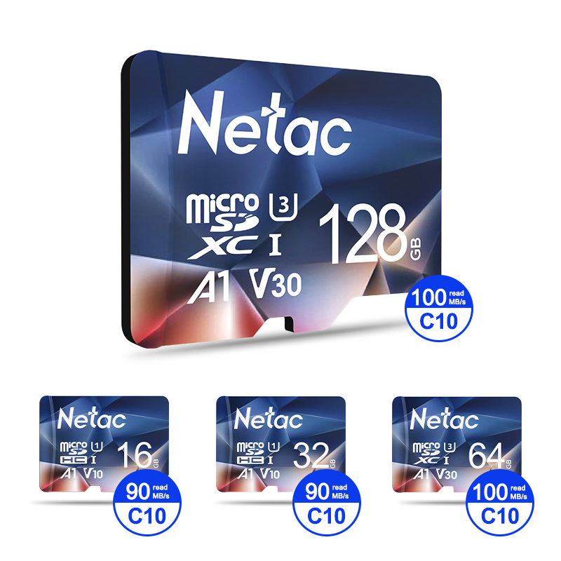 Netac Memory Card micro sd 128GB 32GB 16GB 100MB/S 64GB Micro SD Card адаптер sd Flash Card SD Card Hot Sale P500 4