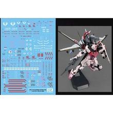Calcomanía de agua calcomanías de deslizamiento pegatinas de pasta para Bandai MG 1/100 Strike colore RM versión Gundam modelo Kit accesorios piezas