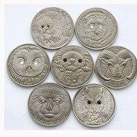 LOT X 60PCS Mix Mongolia 500 Togrog Wildlife Protection Coins Set 7 sets/lot