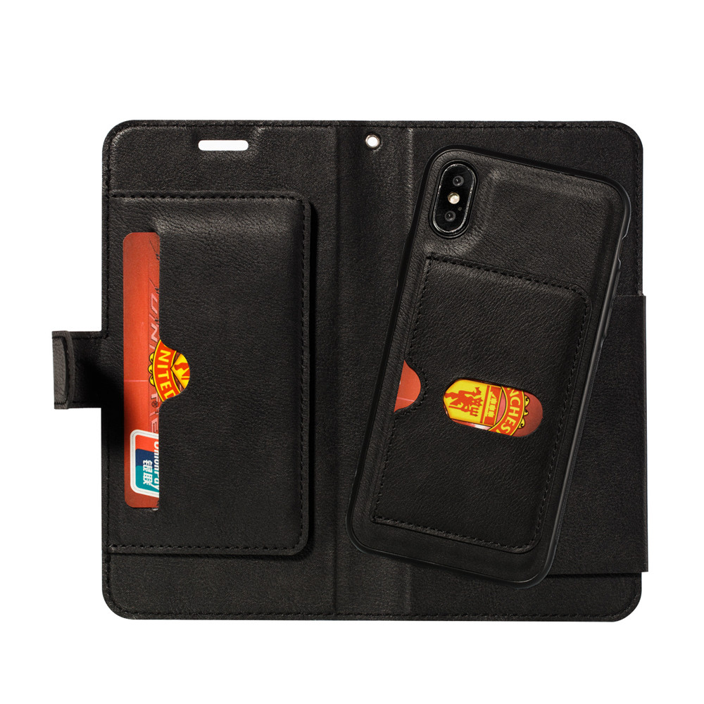 Retro PU Leather Case iPhone 7 6 6S 8 Plus Case iPhone X XS Max XR Case Cover Detachable 2 in 1 Multi Card Wallet Phone cases70