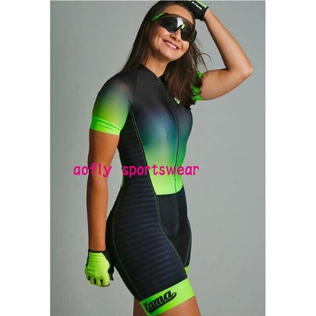 Gradiente cor profissão triathlon terno roupas ciclismo skinsuits rosa roupa de ciclismo macacão das mulheres triatlon kits 2