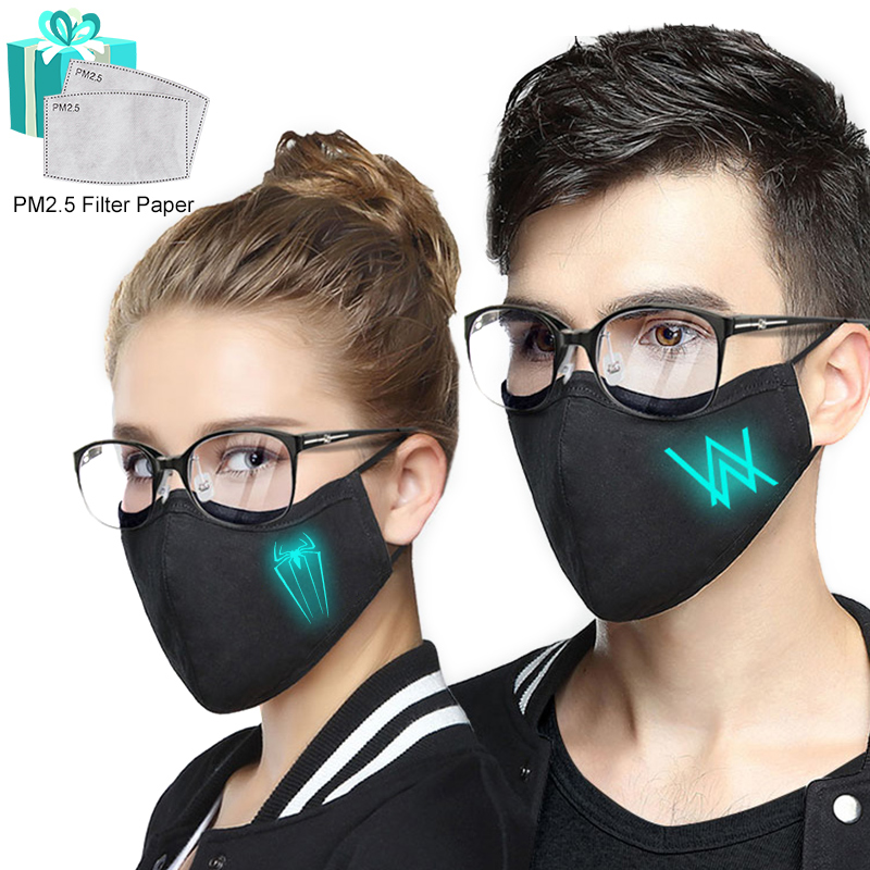 Pure cotton luminous Face mask, windproof, dustproof and antivirus, fashionable, protect you from going out