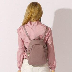 Image 3 - Zencyチャーム女性バックパック100% 本革盗難防止ボタンエレガントな女性旅行バッグ通学ガールホリデーナップザック
