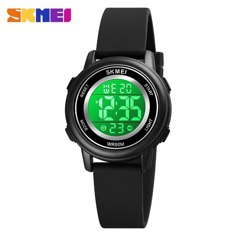 SKMEI 1721 светодиод свет цифровой детский спорт часы секундомер календарь часы 5 бар водонепроницаемый детский наручные часы для мальчиков девочек подарок