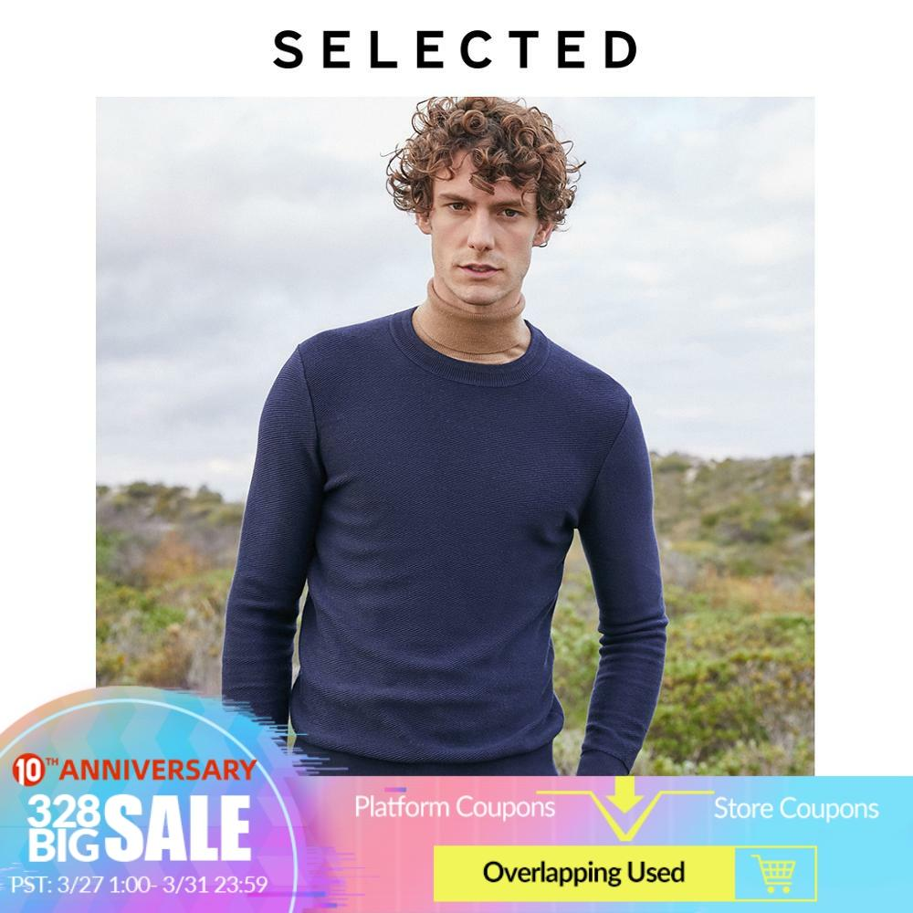 SELECTED Men's Autumn Pullovers Cotton Knitted Round Neckline New Long-sleeved Sweater Clothes S | 419324522