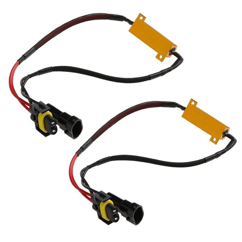 2 x H8 H11 phare LED résistance de charge Flicker décodeurs avertissement annuleur harnais E7CA