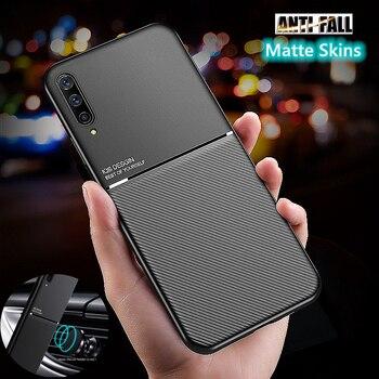Перейти на Алиэкспресс и купить Чехол на магните для телефона Samsung Galaxy A50 A51 A71 A30S A21S A30 A70 A10 A20 A11 A01 матовый отделением для кредитных карт чехол для Samsung M21 M31 M30S M11