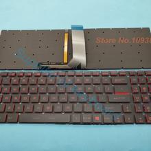 Новая английская клавиатура для MSI GV62 7RC 7RD 7RE 8RC 8RD 8RE GV62VR 7RF GV72 7RD ноутбук английская клавиатура красная освещенная контржурным светом