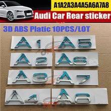 Bom 1 pçs para audi a1 a2 a3 a4 a5 a6 a7 a8 auto emblema logotipo carta adesivos cauda do carro traseiro boot decoração emblema do carro-etiqueta estilo
