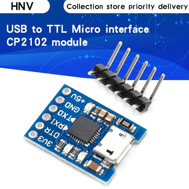 CJMCU CP2102 микро USB к UART TTL модуль 6Pin серийный преобразователь UART STC Замена FT232 новый для arduino