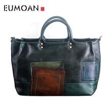EUMOAN Original handmade leather handbag original retro vintage do the first layer of leather handbag shoulder bag все цены