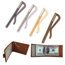 Billetera plegable de Metal, piezas de repuesto, abrazadera de resorte, soporte para dinero en efectivo, 1 unidad