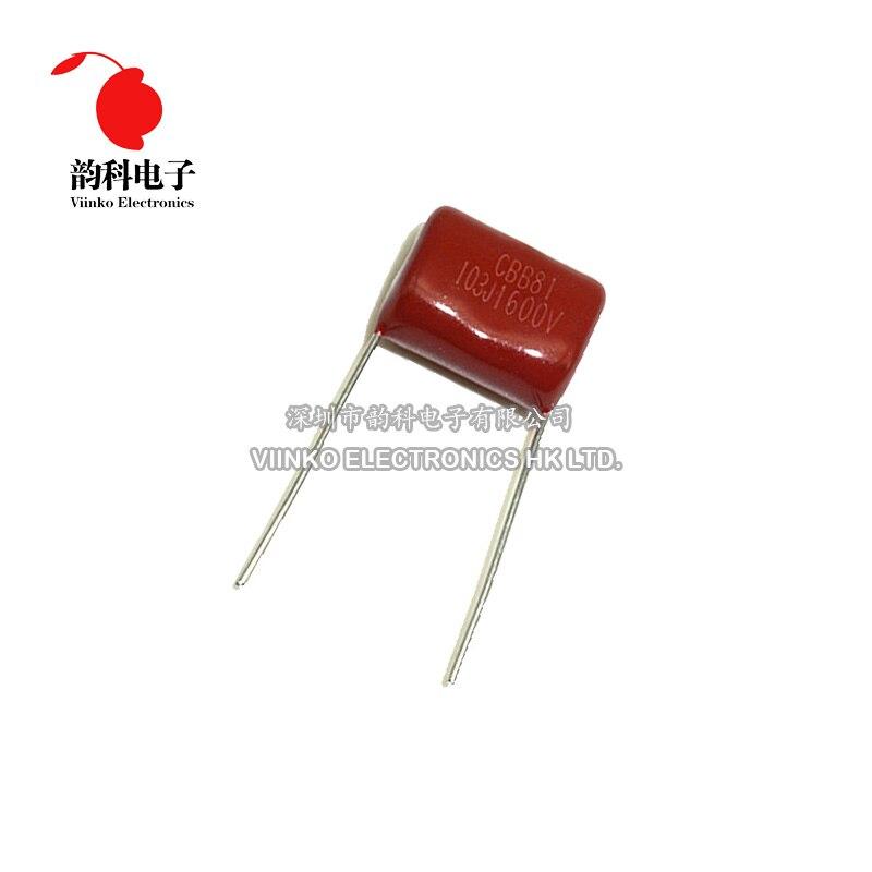 10PCS CBB81 222J 2000V 0.0022UF 2.2NF P15 Metallized Film Capacitor