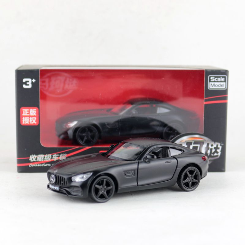 RMZ City/1:36 Scale/Diecast Metal Toy Model/AMG GTS Super Racing/Educational Pull Back Car/Gift For Children/Collection/Box