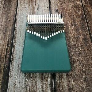 Тип по индивидуальному заказу гравировка 17 ключ калимба африканская твердая сосна красное дерево палец пианино Sanza Mbira Calimba Музыкальные инструменты