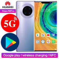 Huawei Mate 30 pro 5G Version Google Play Support NFC ROM globale déverrouiller 8 go 256 go Mate30pro 40MP 6.53 pouces Kirin 990 téléphone portable