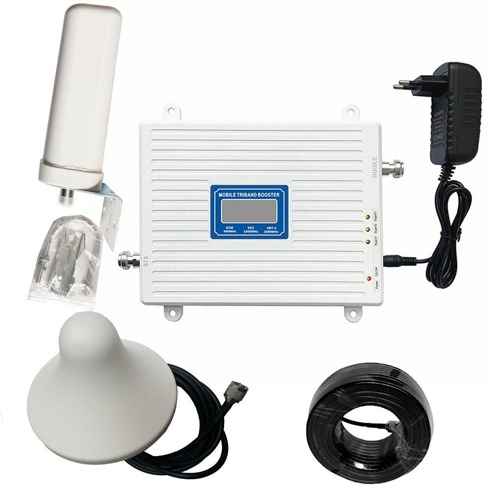 Amplificateur de Signal Triple bande 2G 3G 4G GSM 900 DCS 1800 FDD LTE 2600 répéteur de Signal de téléphone portable amplificateur cellulaire de téléphone portable