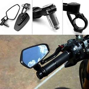 Universal Motorcycle Mirror handlebar rear view Bar Ends Mirrors For YAMAHA R1 FZR400 BT1100 XJR400 XJR1200 MT 07 09 10 FZ 07 09