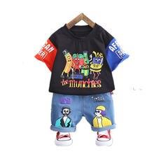 Летние комплекты одежды для детей мальчиков с мультипликационным