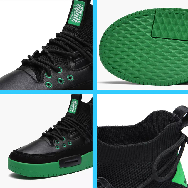 Men Mesh Shoes Rubber Bottom  Wear-Resistant Sneakers 2
