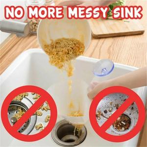 Image 2 - New Self Standing Stopper Kitchen Anti Blocking Device Foldable Filter Simple Sink Recyclable Collapsible Drain filter