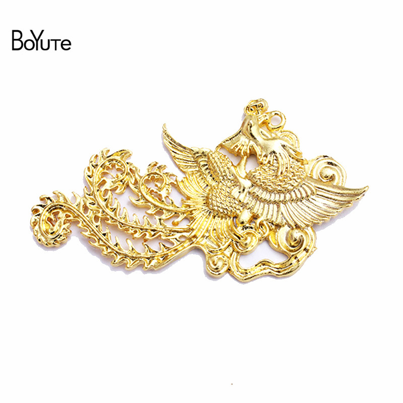 BoYuTe (10 Pieces/Lot) Factory Direct Wholesale DIY Metal Alloy Jewelry Accessories 34*63MM Phoenix Findings