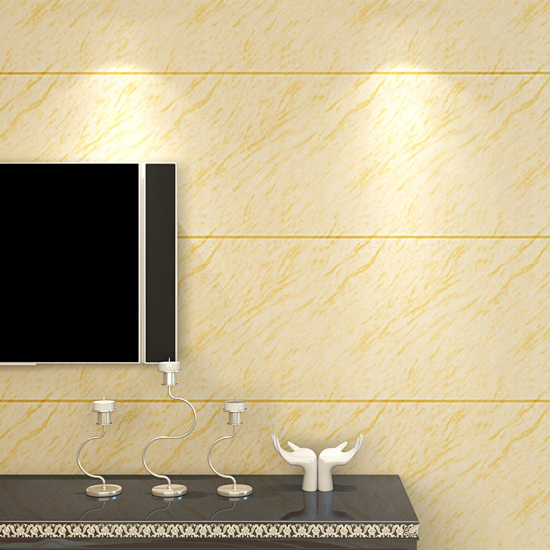 Modern Faux Marble Tile Wallpaper Simple 3D TV Wall Bedroom Living Room Television Background Wall Wallpaper