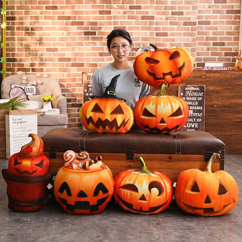Halloween Party Witch Pumpkin Happy Halloween Throw Pillow Cushion Halloween Decoration Trick Or Treat Cushion
