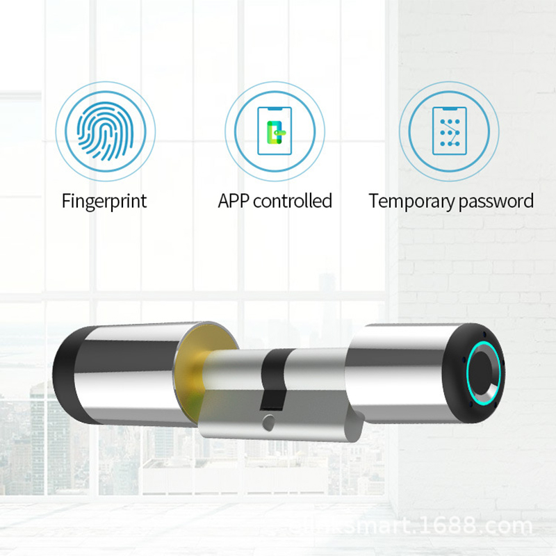 Fingerprint Lock Door Bluetooth Electronic Lock Cylinder Biometric Fingerprint Door Lock Smart Home Security Password Smart Lock