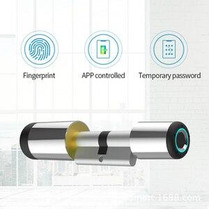 Fingerprint Lock Door Bluetooth Electronic Lock Cylinder Biometric Fingerprint Door Lock Smart Home Security Password Smart Lock