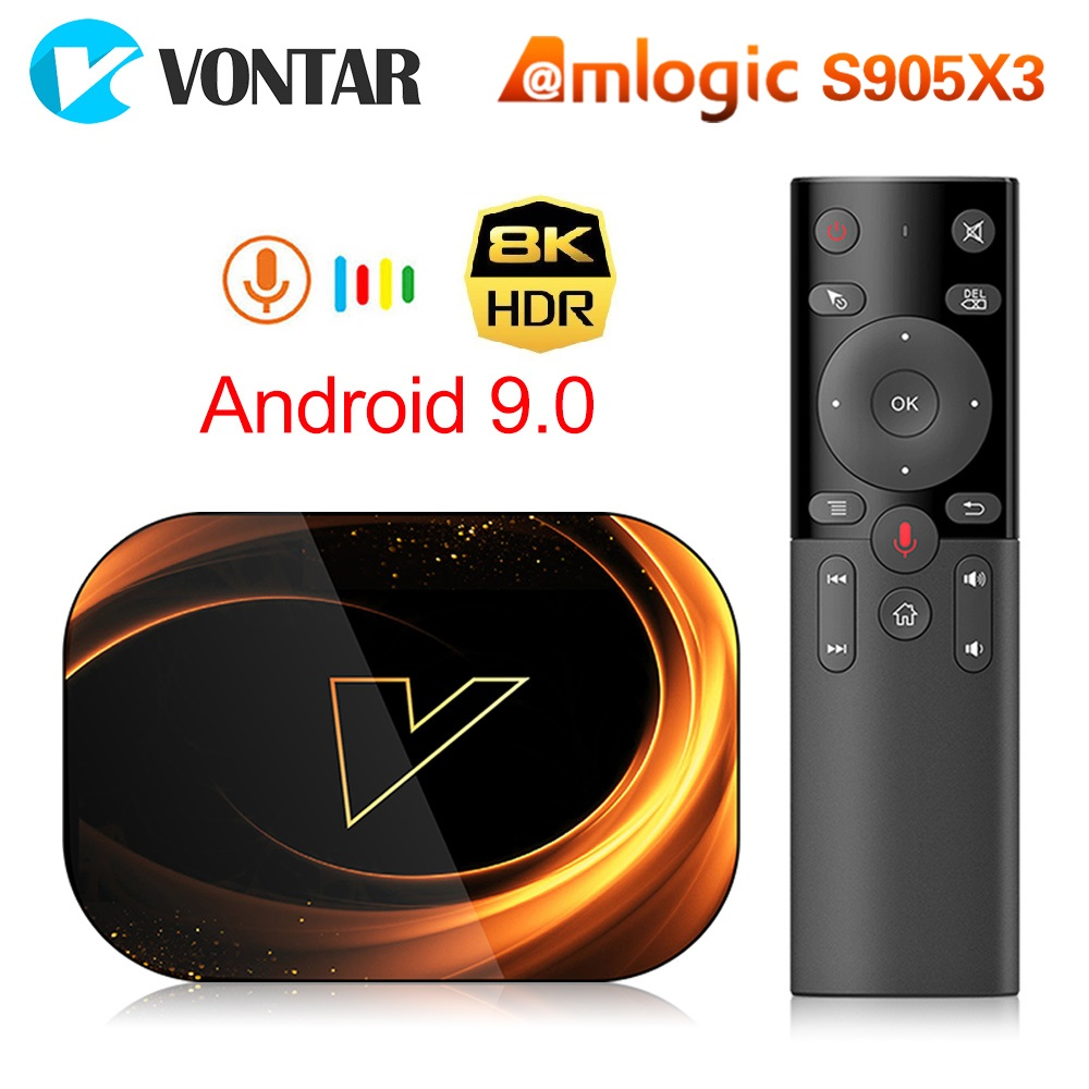 2020 TV BOX Android 9.0 VONTAR X3 4GB 128GB 8K Amlogic S905X3 Dual Wifi 1080P 4K Youtube Media Player Set Top Box 4GB 64GB 32GB