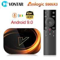 2020 TV BOX Android 9.0 VONTAR X3 4GB 128GB 8K Amlogic S905X3 Dual Wifi 1080P 4K Youtube Media player Set Top Box 4GB 64GB 32GB