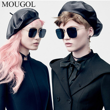 MOUGOL 2019 New square frame vintage sunglasses Women Oversized Big Size Sun Glasses Men Female Shades Black UV400 Eyewear 2019 newest square frame vintage sunglasses women oversized big size sun glasses for men female shades gold gray uv400 eyewear