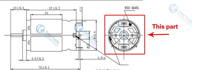 غطاء خلفي للمحرك RS550 RS545 RS555 يحل محل بوش ماكيتا ديوالت هيتاشي ميتابو ميلووكي ووركس هيلتي ريوبي