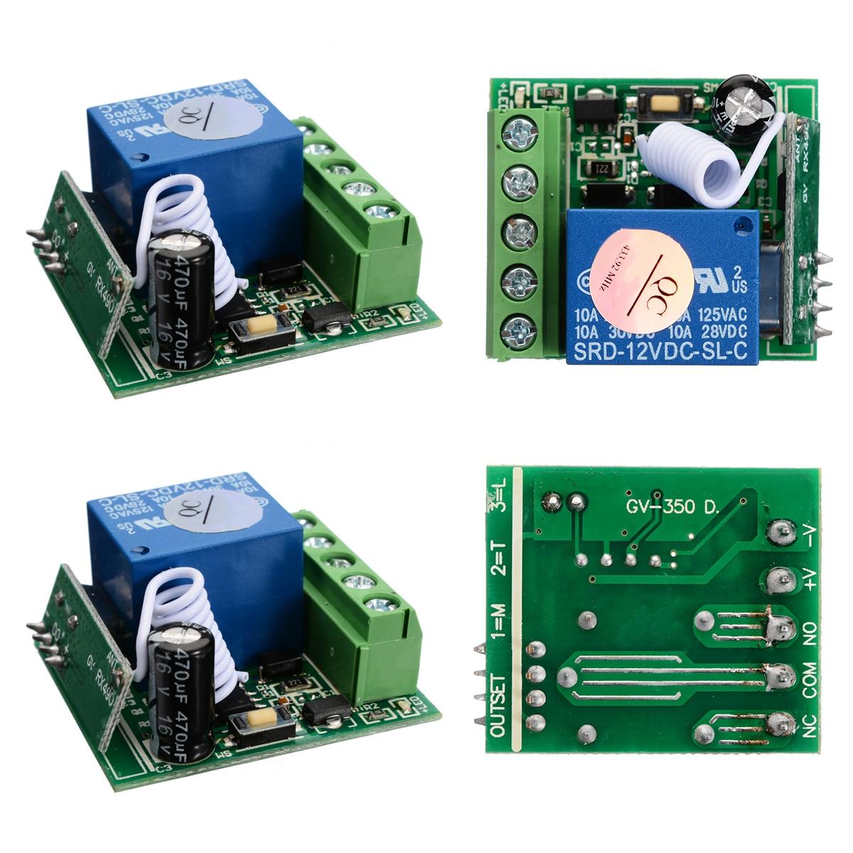 10A 1 канальный приемник беспроводной Реле RF пульт дистанционного управления Переключатель DIY Модуль DC12V для дистанционного управления DIY Инт...