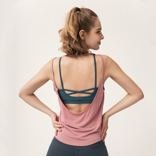 sports T shirt yoga top sports vests for women tank top gym U back sleeveless sport shirt women fitness top modal T shirt tank active scoop neck cross back yoga tank top for women
