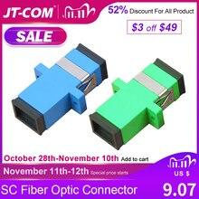 شحن مجاني! 200 قطعة SC الألياف موصل بصري محول SC / UPC SM شفة واحدة بسيطة SC SC APC مقرنة بالجملة ل