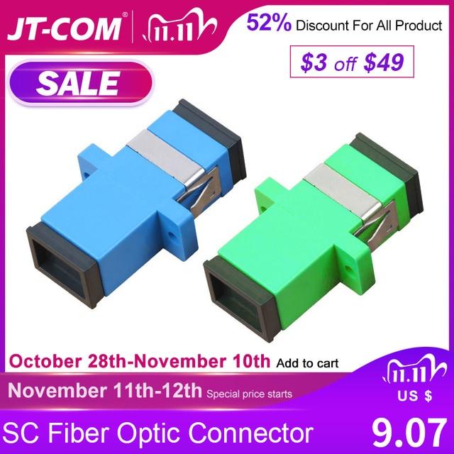 Spedizione Gratuita! 200Pcs Connettore A Fibra Ottica SC Adattatore SC / UPC SM Flangia Monomodale Simplex SC SC APC Accoppiatore Allingrosso per