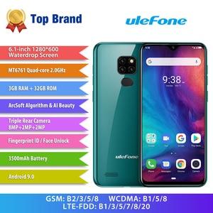 Image 2 - הערה Ulefone 7P Smartphone אנדרואיד 9.0 Quad Core 3500mAh 6.1 אינץ ואטארדרוף מסך 3GB + 32GB נייד טלפון