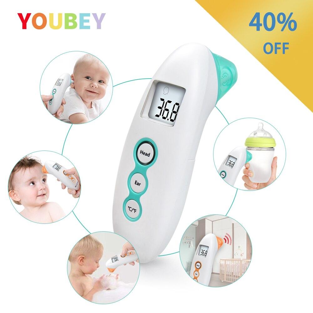 Bebê sem contato termômetro digital infravermelho corpo termômetro para crianças testa orelha medição com febre alarme termometro