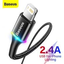 Baseus oświetlenie kabel USB dla iPhone 12 11 Pro Max X XR XS 8 7 6 6s iPad szybkie ładowanie telefon komórkowy ładowarka kabel przewód danych