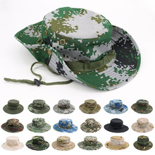 Camouflage Tactical Cap Military Army Boonie Hat Camo Men Outdoor Sports Sun Bucket Caps Hiking Hunting Fishing Fisherman Hats new outdoor sports hat men camping hiking fishing hat man sun cap camouflage breathable