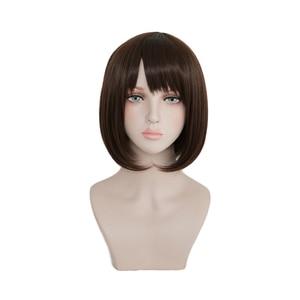 Saenai Heroine No Sodate-kata Katou Megumi, парики для косплея, коричневые, короткие, Bobo, синтетические волосы, аниме, костюм, парик + шапка