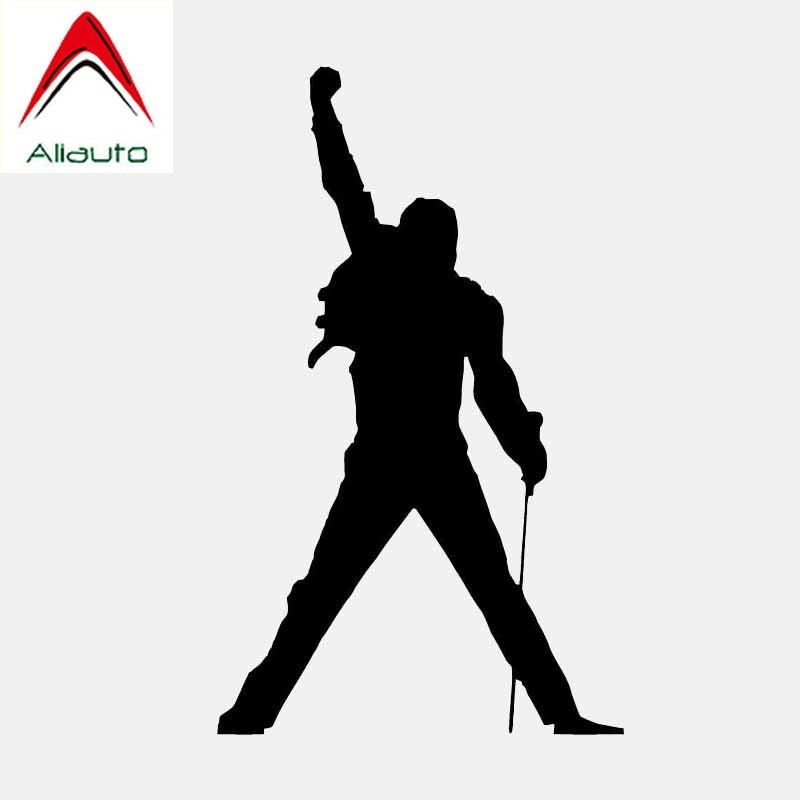 Aliauto Personality Car Sticker Music Rock Freddie Mercury Vinyl Black/Silver Cover Scratch Accessories PVC Decal,13cm*7cm