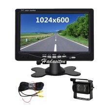 """Uniwersalny 7 """"ekran HD Monitor samochodowy 1024*600 Monitor bezpieczeństwa asystent parkowania, kamera cofania opcjonalnie"""