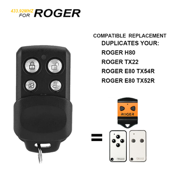 ROGER pilot zdalnego pilot do drzwi garażowych ROGER pilot zdalnego sterowania 433mhz klon do H80 TX22 E80 TX52R TX54R TX1 TX10 433 92MHz nadajnik tanie i dobre opinie Scimagic-RC SMG-053COPY Copy code ROGER Garage Gate Remote Control 433mhz 5-30meters (open space) ROGER H80 TX22 E80 TX52R TX54R TX1 TX10